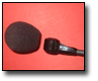 Microphone and Soft Foam Wind Screen