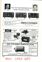 Nov 1962 advertisement in QST magazine